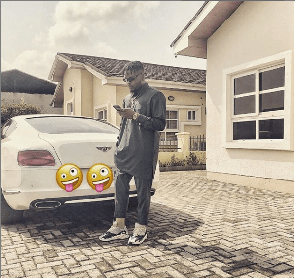 Rapper, Olamide buys himself a brand new Bentley(Photo)