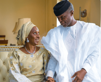 , With you by my side, I'm ready for the next 4 years – VP Yemi Osinbajo tells wife, All9ja