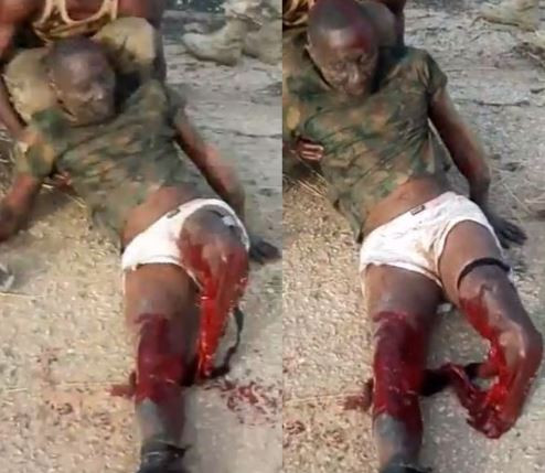 'Our soldiers are not cowards,they are heroes' - Reno Omokri shares graphic video of soldier with his legs chopped off
