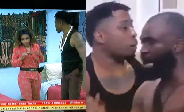 Mercy and Gedoni fights, after she smashed a phone he used in recording a drunk Diane lindaikejisblog