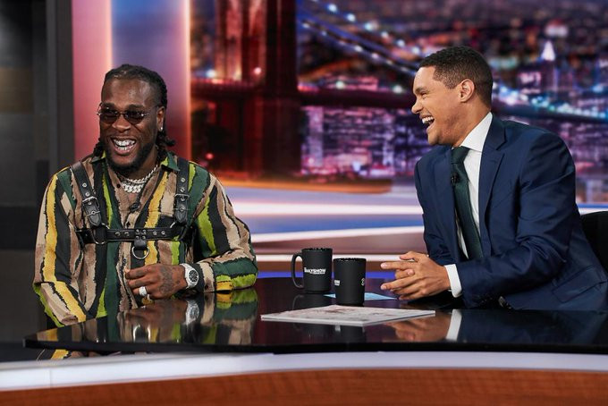 Burna Boy appears on Trevor Noahs The Daily Show, watch video of his performance