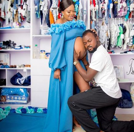 'With God all things are possible' - Toyin Abraham's hubby, Kolawole Ajeyemi shares more 'maternity photos'