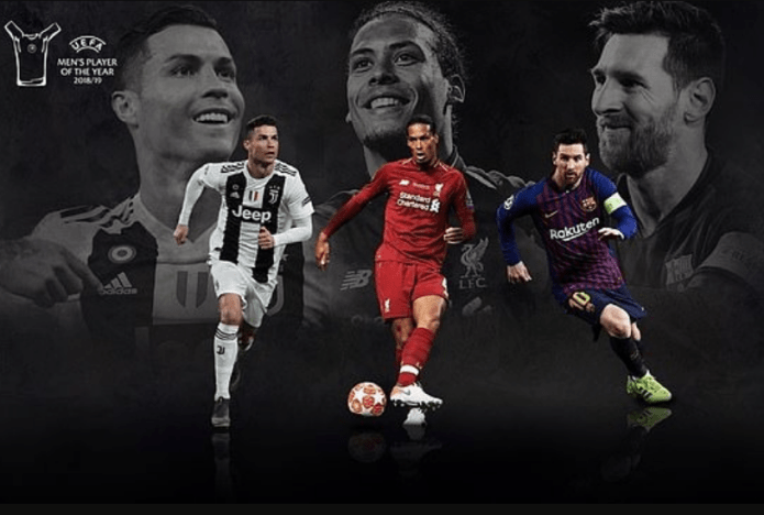 Lionel Messi, Cristiano Ronaldo and Virgil van Dijk on three-man shortlist for UEFA Men's Player of the Year