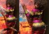 Amara La Negra flaunts her bare butt in see-through dress (Photos)