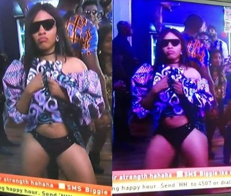 Nigerians react as Mercy flips her skirt to show her p*nt during the #BBNaija Saturday night party