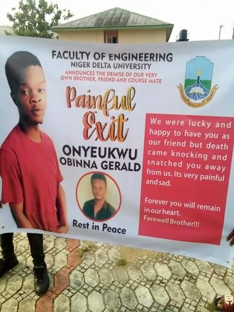 Niger Delta University students hold procession for colleague shot dead by NSCDC in Bayels