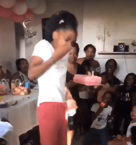 Twitter users react in shock after girl smashed her birthday cake into her mother's face in revenge (video)