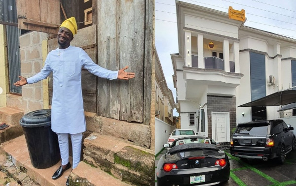 Comedian Ogusbaba becomes a house owner in Lekki, shares a photo of his first rented apartment in Enugu lindaikejisblog