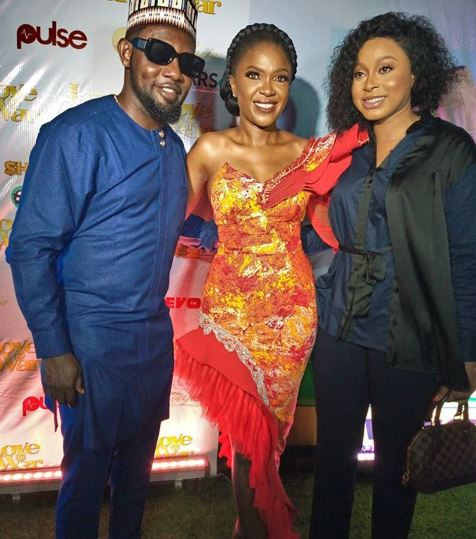 How Toke Makinwa, Funke Akindele, RMD, others turmed up for the premiere of Omoni Oboli's new movie, 'Love Is War'      Your favourite celebs turned up in style for thepremiere of Omoni Oboli's new movie titled'Love Is War' in Lagos tonight.    Some of the Nollywood stars who lit the red carpet on fire include Inidima Okojie, Mercy Aigbe,Toke Makinwa, Funke Akindele, RMD and others.    See all the lovely photos below...