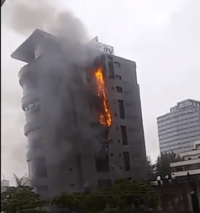 Fire outbreak at Unity Bank head office (video)