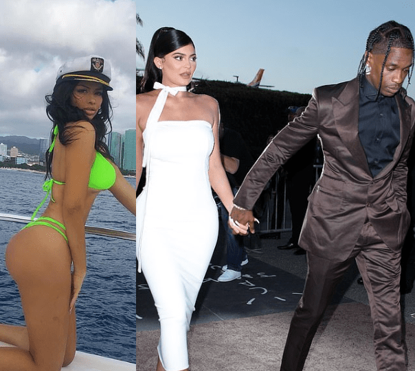 Image result for Woman rumoured to be the cause of Travis Scott and Kylie Jenner's split responds