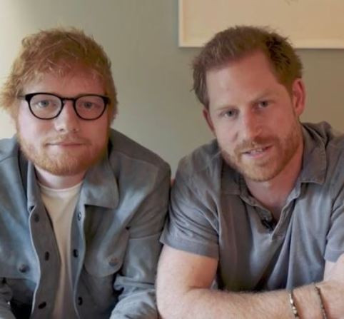 Hilarious video sees Prince Harry and Ed Sheeran unite for World Mental Health Day