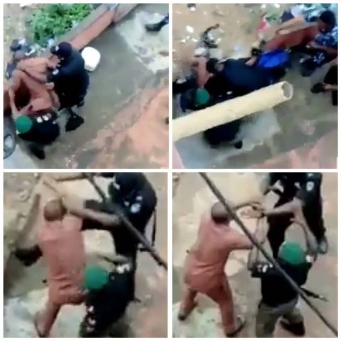 Police officers caught on camera assaulting a lawyer in Anambra