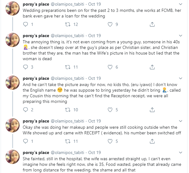Twitter user narrates how the wife of her sister's husband-to-be showed up at their wedding amid claim of being dead lindaikejisblog 2