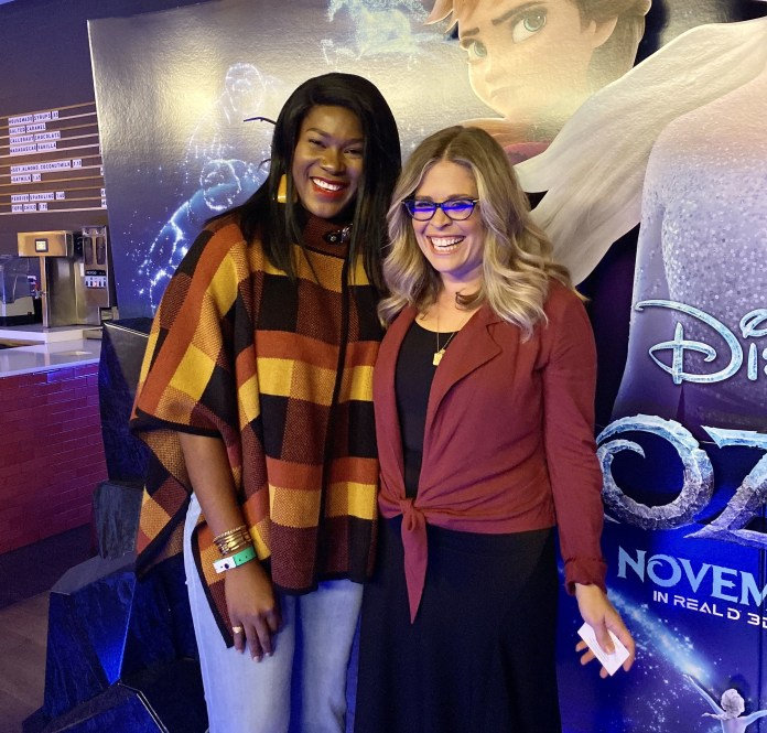 Stephanie Linus attends a Fire Side Chat and Private Screening of Frozen 2