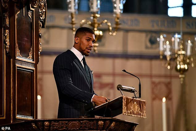 My heritage is Nigerian, and Im proudly Nigerian - Anthony Joshua says as he addresses the Royal Family at Commonwealth Day service (Video)