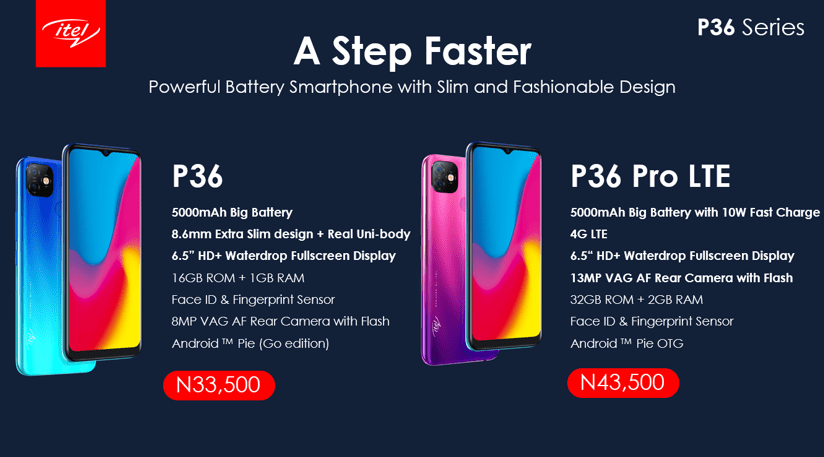 Itel Mobile Introduces New Big Battery Smartphones, Itel P36 and P36 PRO LTE