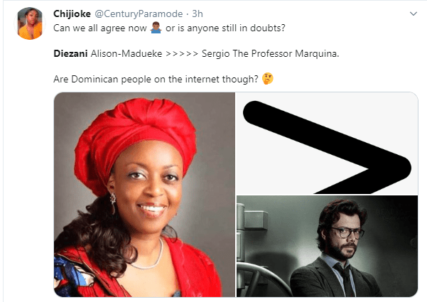 Nigerians react to former Minister of Petroleum, Diezani Alison-Madueke 'not being extraditable' after acquiring Dominican citizenship lindaikejisblog 3