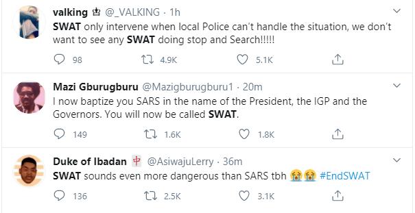 Nigerians reacts as IGP creates SWAT as replacement for SARS lindaikejisblog 10