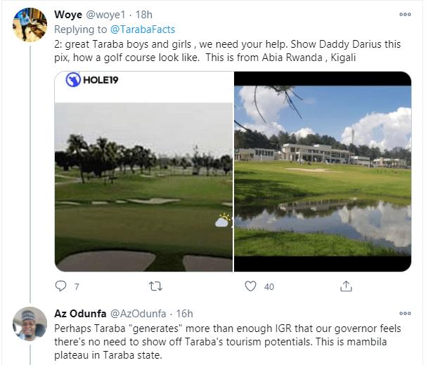 This is a golf desert - Nigerians react to photos of Governor Darius Ishaku playing golf lindaikejisblog 7