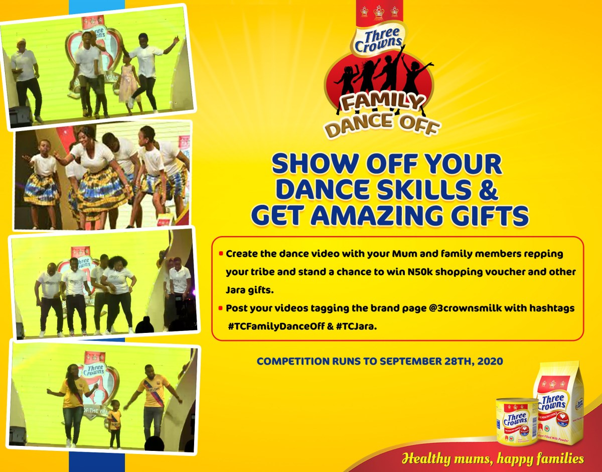 Winners emerge in Three Crowns Family Dance Off, Cook Along Online Challenges in its Jara Campaign