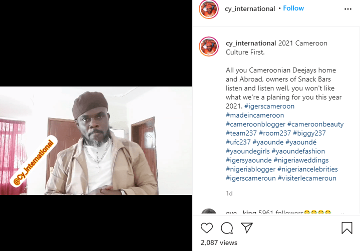 Cameroonian actor comedian Pancho Cy International incites xenophobic attacks against Nigerian artistes, alleges that Nigerians are greedy