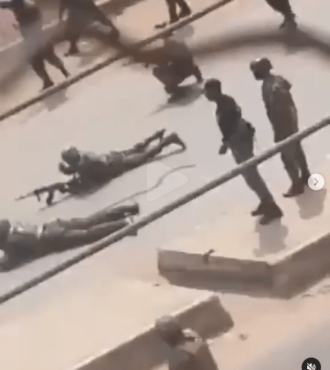 Soldiers and operatives of IPOBs Eastern Security Network clash in Orlu