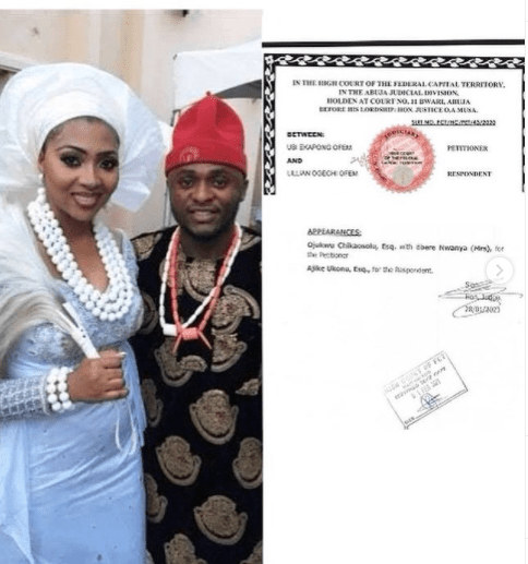 Ubi Franklin and Lilian Esoro's marriage has been officially dissolved  1