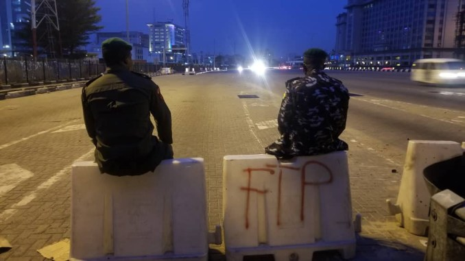 Photos from Lekki toll gate this morning  2