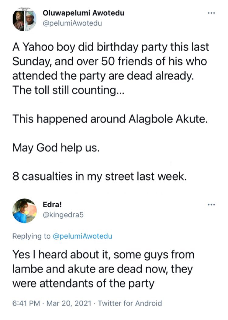 Over 20 people reportedly dead after 'eating meat' allegedly served by a suspected yahoo boy  1