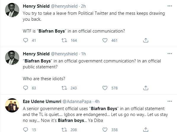 Nigerians react to CCT Chairman, Danlandi Umar describing those who mobbed him for assaulting a security guard as 'Biafran Boys'6