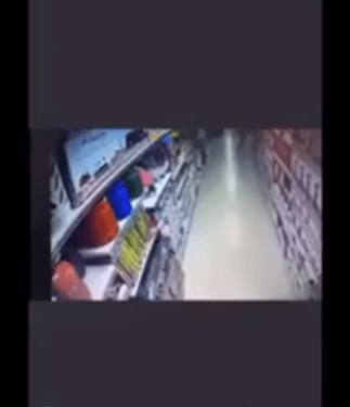 CCTV footage of a lady deliberately turning on a gas cooker at an Abuja Supermarket surfaces after an explosion occurred