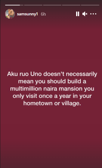 If you are not looking to run for politics, you have no business building a multi-million naira mansion in your hometown - Actor Sam Nnabuike 1
