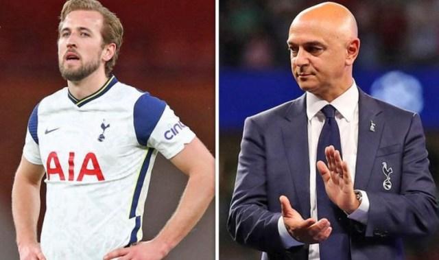 Tottenham striker, Harry Kane accuses Daniel Levy of broken promises as Spurs block Man City's 125m bid