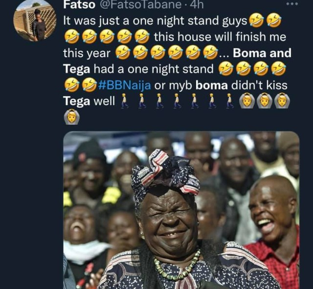 Nigerians react to videos of Tega and Boma making out 8
