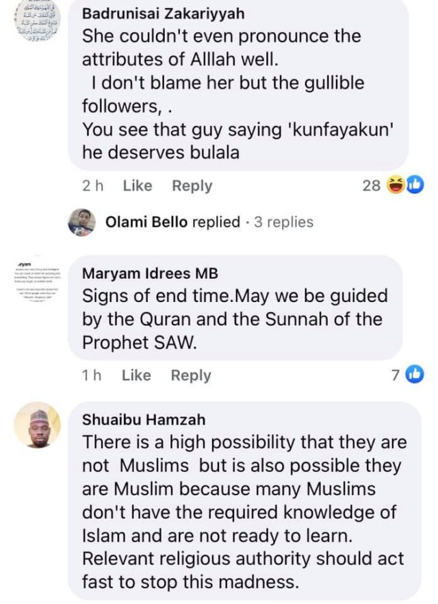It is a sign of end time and unislamic - Nigerian Muslims react to video of female muslim preacher imitating pastors in casting out demons and sickness  2