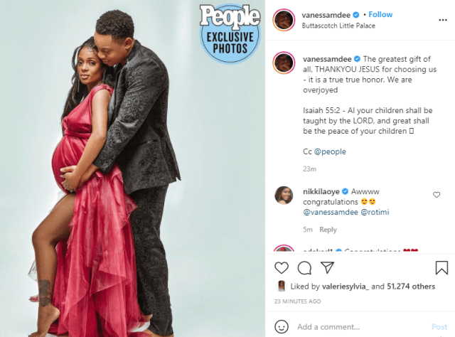 Rotimi and Vanessa Mdee are expecting their first child, share pregnancy photos 1