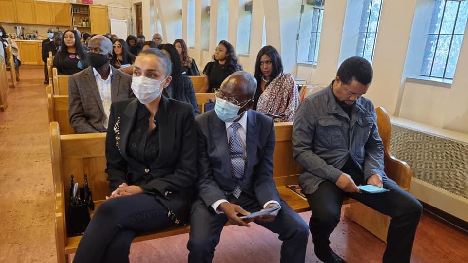 Ex-APC National chairman, Adams Oshiomole's wife, Iara, makes first public appearance in long time (photos)