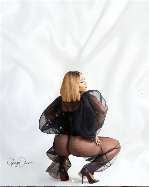 Reality star, Mercy Eke releases sultryphotos with her backside on display ahead of her 28th birthday tommorow
