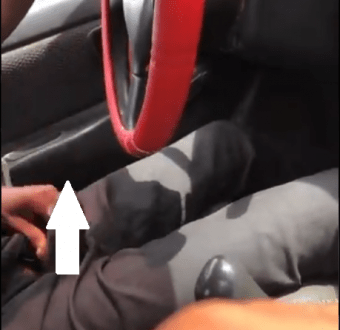 Taxi driver brings out his male member and starts masturbating while driving female passenger (+18 video)