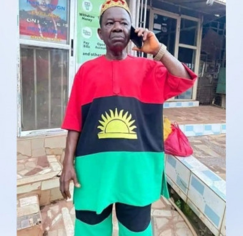 Chiwetalu Agu released one day after he was arrested for wearing an outfit made with Biafran flag