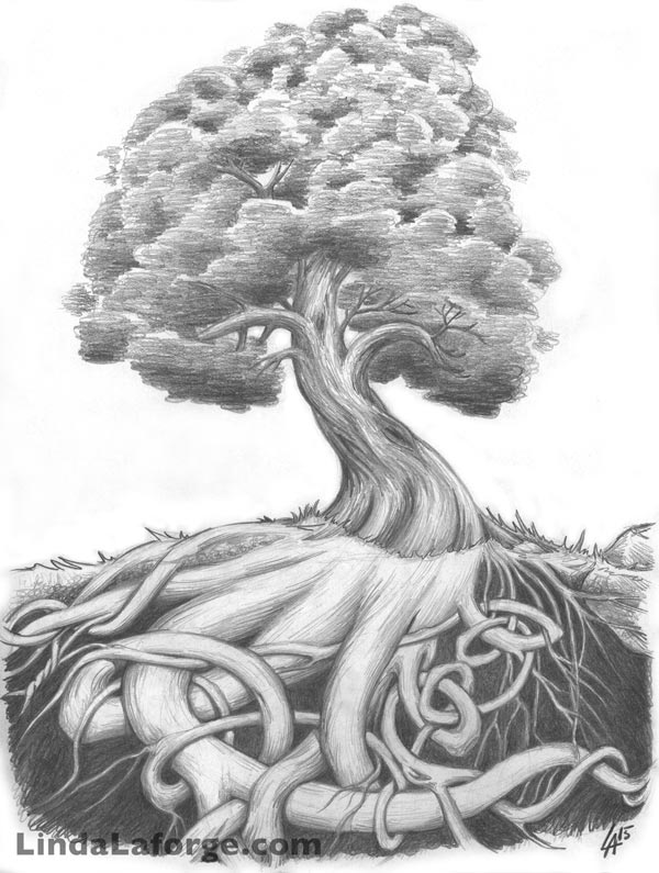 Celtic roots tree design