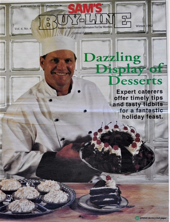 Bruce early in his cake manufacturing career