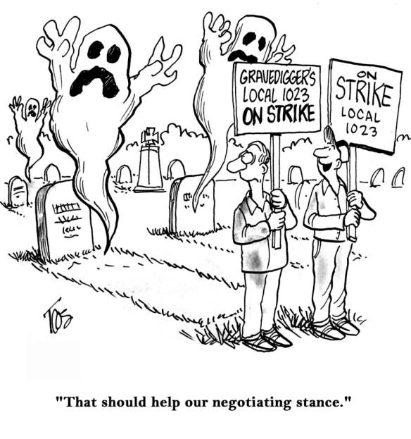 Graveyard Workers Strike