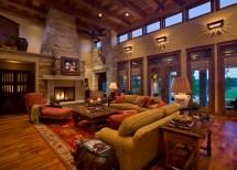Texas Ranch House Living Room