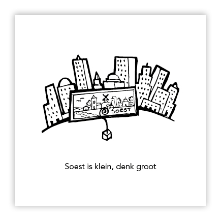 illustratie stad en dorp