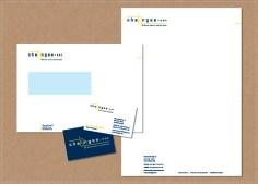ontwerp huisstijl logo visitekaartje briefpapier envelop Chainges.net