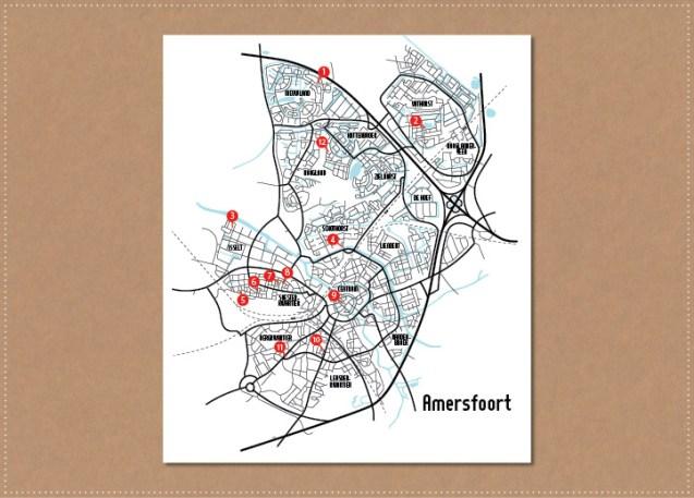 grafisch ontwerp vormgeving illustratie plattegrond amersfoort