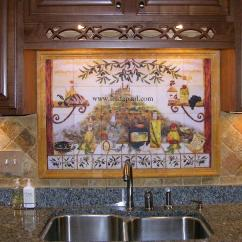 Kitchen Tile Murals Antique Cabinet Italian Backsplash Tiles Ideas