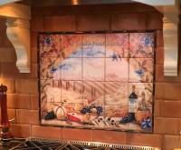 Italian tile murals - Tuscany Backsplash tiles